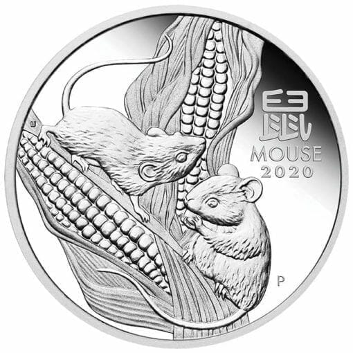 2020 Year of the Mouse 1oz .9999 Silver Proof Coin - Lunar Series III 1