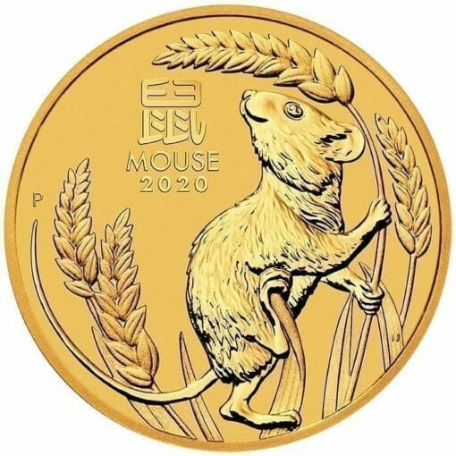 2020 Year of the Mouse 1oz .9999 Gold Bullion Coin - Lunar Series III 1