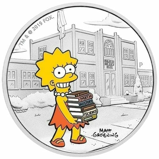 2019 The Simpsons - Lisa Simpson 1oz .9999 Silver Proof Coin 1