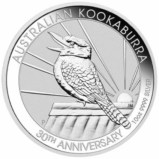 2020 Australian Kookaburra 10oz .9999 Silver Bullion Coin - 30th Anniversary 1