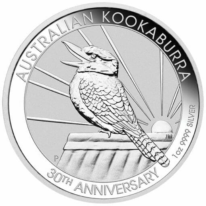 2020 Australian Kookaburra 1oz .9999 Silver Bullion Coin - 30th Anniversary 1
