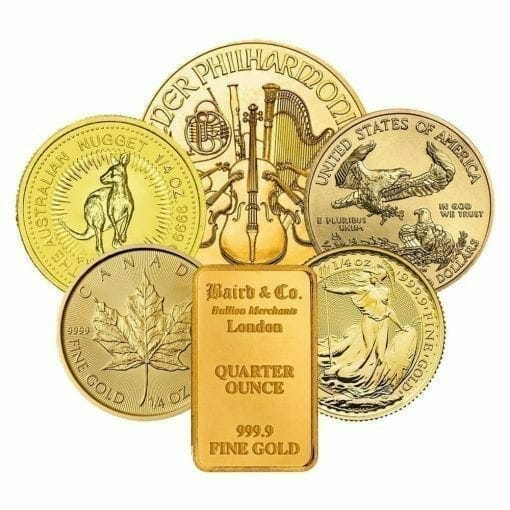 Low Premium 1/4oz Gold Bullion 1