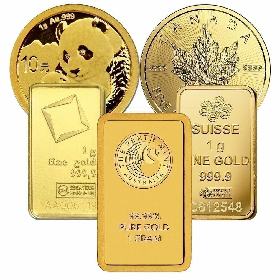 Low Premium 1g Gold Bullion 1