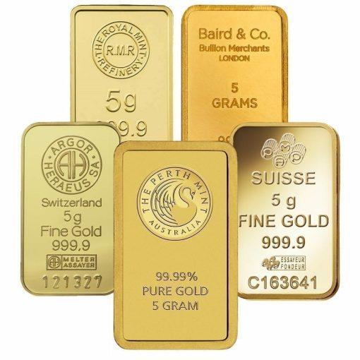 Low Premium 5g Gold Bullion 1