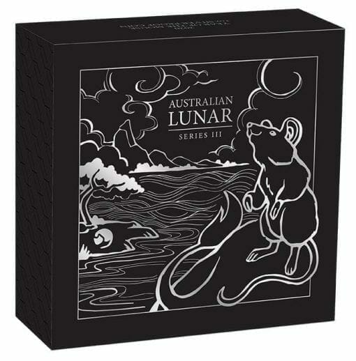 2020 Year of the Mouse 1oz .9999 Silver Proof Coin - Lunar Series III 5
