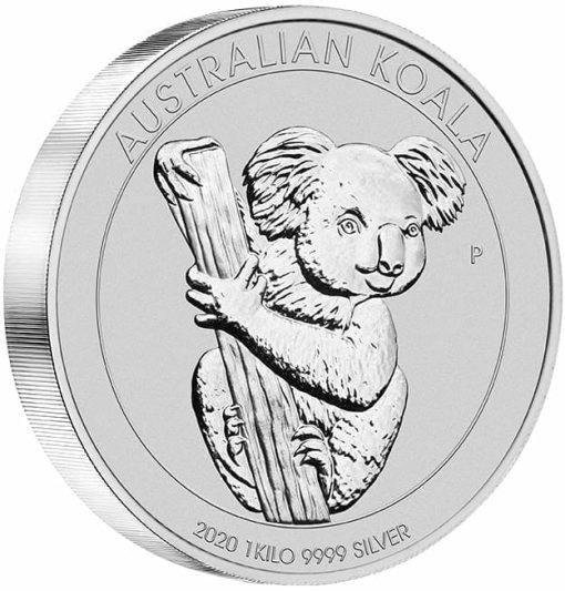 2020 Australian Koala 1kg .9999 Silver Bullion Coin 2