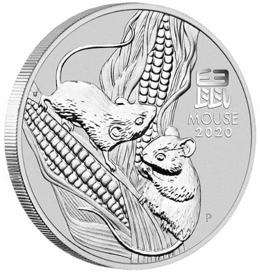 2020 Year of the Mouse 1/2oz .9999 Silver Bullion Coin - Lunar Series III 2