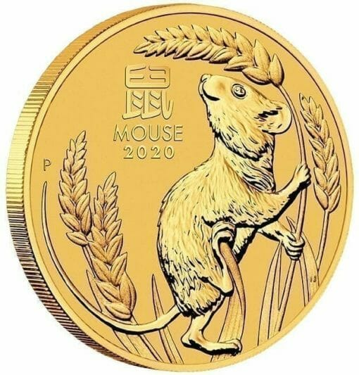 2020 Year of the Mouse 1oz .9999 Gold Bullion Coin - Lunar Series III 2