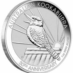 2020 Australian Kookaburra 1oz .9999 Silver Bullion Coin - 30th Anniversary 4