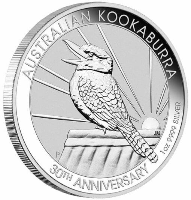 2020 Australian Kookaburra 1oz .9999 Silver Bullion Coin - 30th Anniversary 2