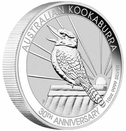 2020 Australian Kookaburra 10oz .9999 Silver Bullion Coin - 30th Anniversary 2