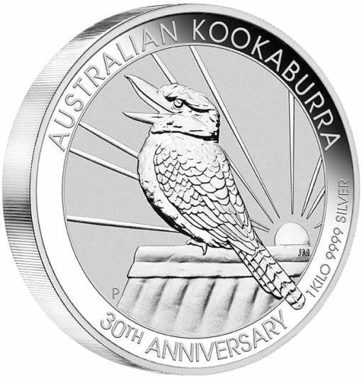 2020 Australian Kookaburra 1kg .9999 Silver Bullion Coin - 30th Anniversary 2