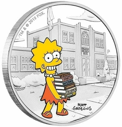 2019 The Simpsons - Lisa Simpson 1oz .9999 Silver Proof Coin 2