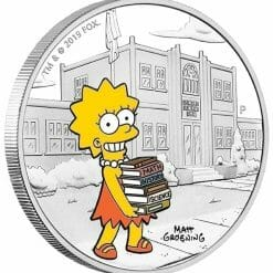 2019 The Simpsons - Lisa Simpson 1oz .9999 Silver Proof Coin 5