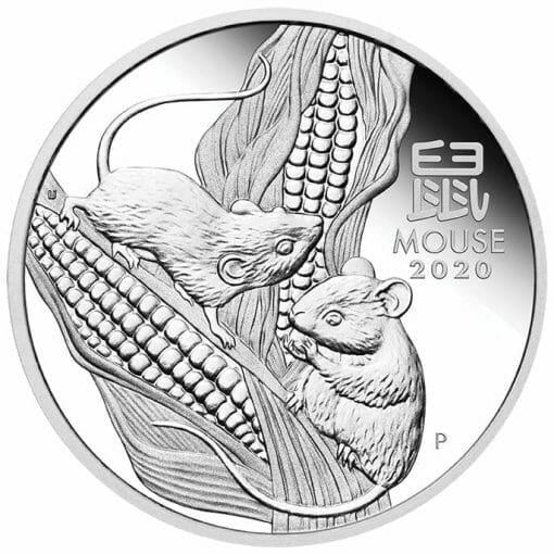 2020 Year of the Mouse 3 Coin Silver Trio Set - Lunar Series III 4