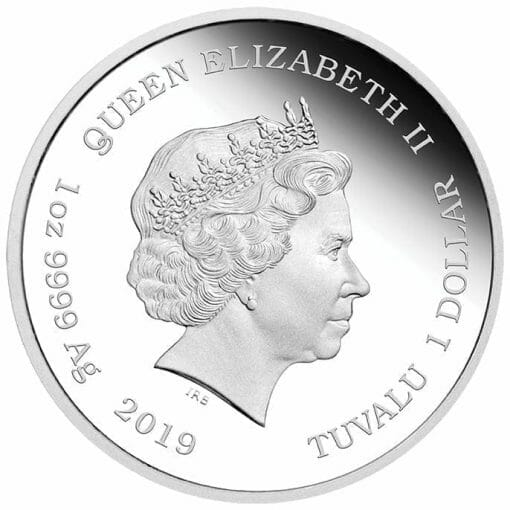 2019 The Simpsons - Maggie Simpson 1oz .9999 Silver Proof Coin 4