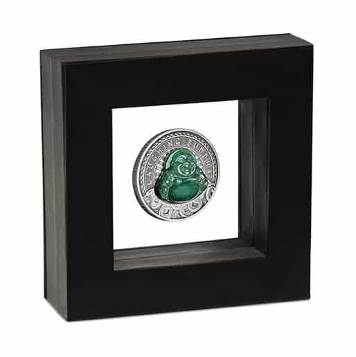 2019 Laughing Buddha 1oz .9999 Silver Antiqued Coin 6