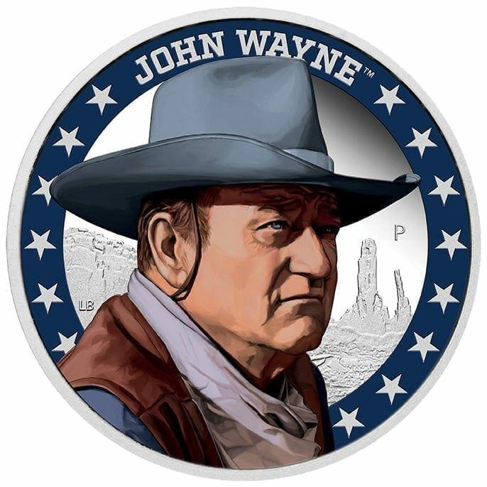 2020 John Wayne 1oz .9999 Silver Proof Coin 1