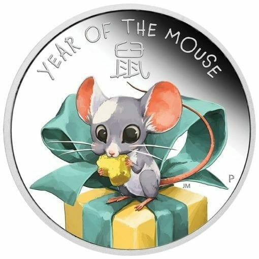 2020 Baby Mouse 1/2oz .9999 Silver Proof Coin 1