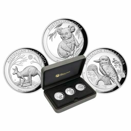 2019 Australian Animals 1oz .9999 High Relief Silver Proof 3 Coin Collection 1