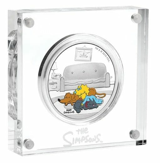 2019 The Simpsons - Maggie Simpson 1oz .9999 Silver Proof Coin 2
