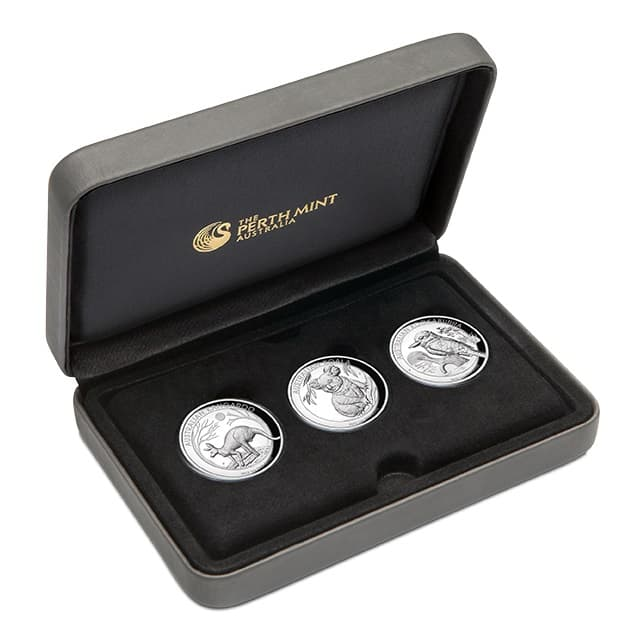2019 Australian Animals 1oz .9999 High Relief Silver Proof 3 Coin Collection 5