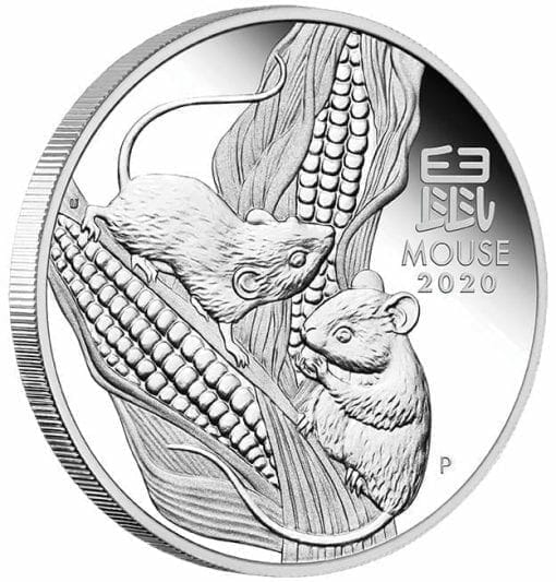 2020 Year of the Mouse 3 Coin Silver Trio Set - Lunar Series III 7