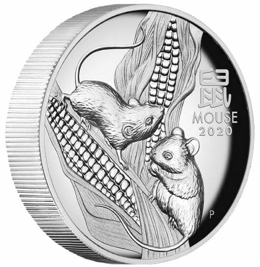 2020 Year of the Mouse 1oz .9999 Silver Proof High Relief Coin - Lunar Series III 3