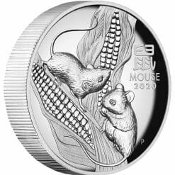 2020 Year of the Mouse 1oz .9999 Silver Proof High Relief Coin - Lunar Series III 7