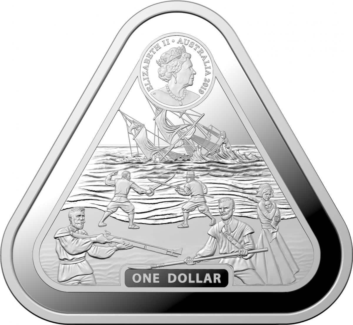 2019 Batavia 1oz Silver Bullion Coin 2