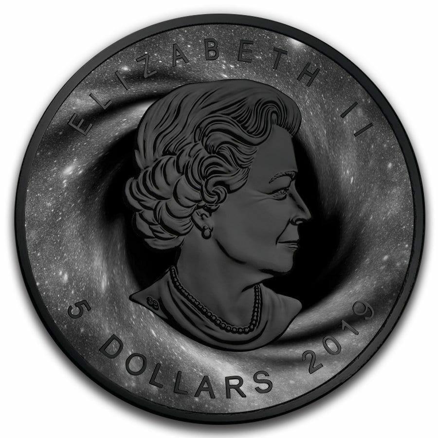 2019 Black Hole Maple Leaf 1oz Black Ruthenium Silver Coin 2