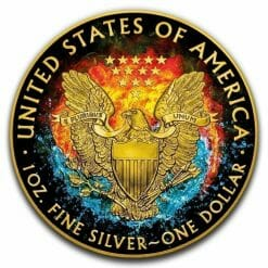 2019 Yin Yang - American Eagle 1oz Gilded Colourised Silver Coin 4