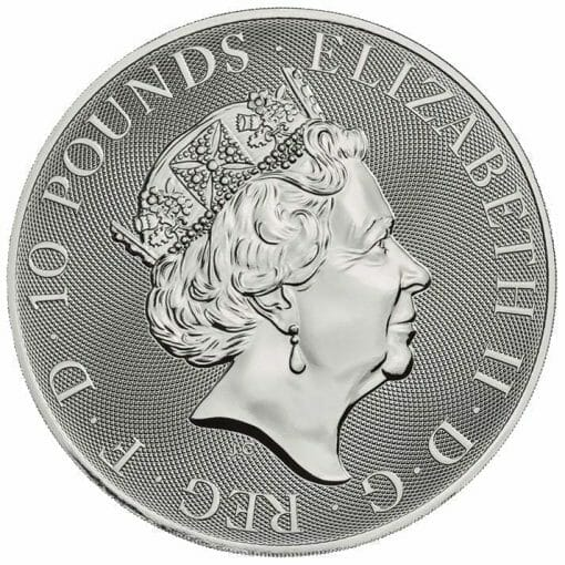 2020 The Queen's Beasts - The Falcon of the Plantagenets 10oz .9999 Silver Bullion Coin 3