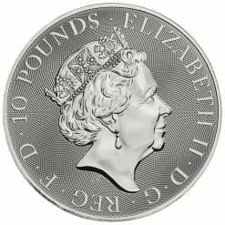 2020 The Queen's Beasts - The Falcon of the Plantagenets 10oz .9999 Silver Bullion Coin 5