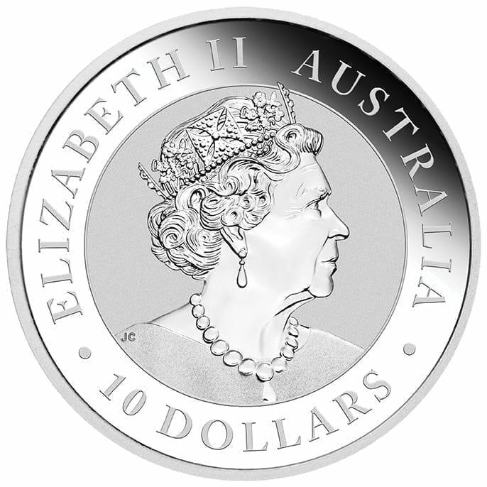 2019 Australian Kookaburra 10oz .9999 Silver Bullion Coin 3