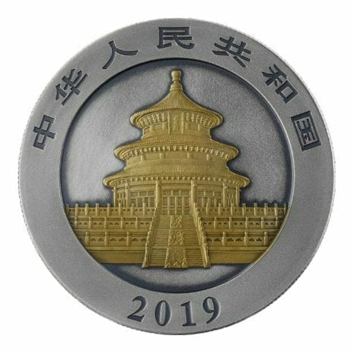 2019 Chinese Panda 30g Silver Coin - Antique Gold Edition 2