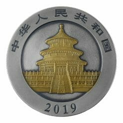 2019 Chinese Panda 30g Silver Coin - Antique Gold Edition 4