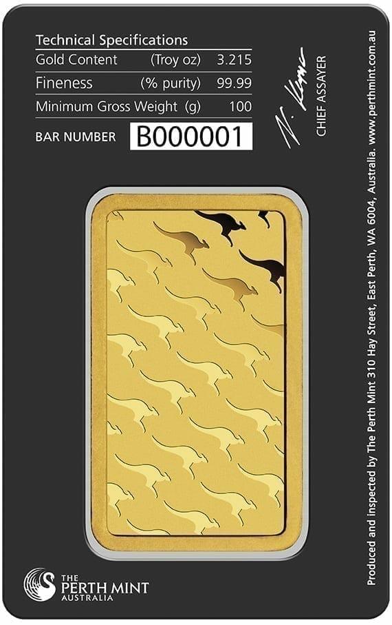 Perth Mint 100g .9999 Gold Minted Bullion Bar 2