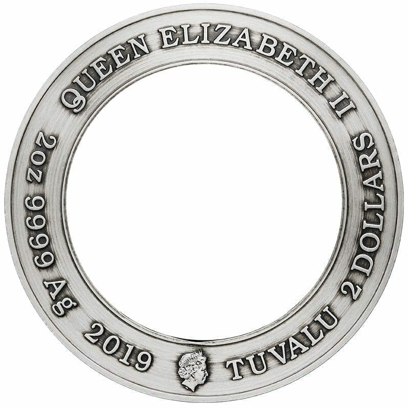 2019 Starfleet Command Emblem 3oz Silver Holey Dollar & Delta Coin Set 14