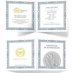 2019 Oak Leaf 1oz .9999 Silver Bullion Coin 5