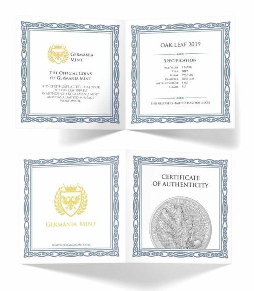 2019 Oak Leaf 1oz .9999 Silver Bullion Coin 3