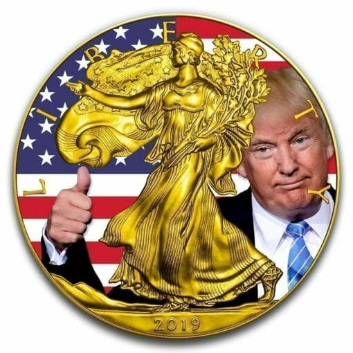 2019 Donald Trump Thumbs Up - American Eagle 1oz Silver Coin 1