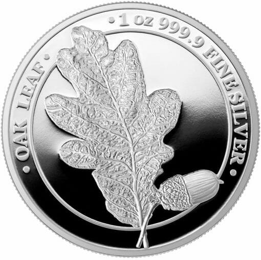 2019 Oak Leaf 1oz .9999 Silver Proof Coin 1
