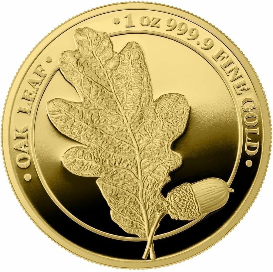 2019 Oak Leaf 100 Mark 1oz .9999 Gold Proof Coin 1