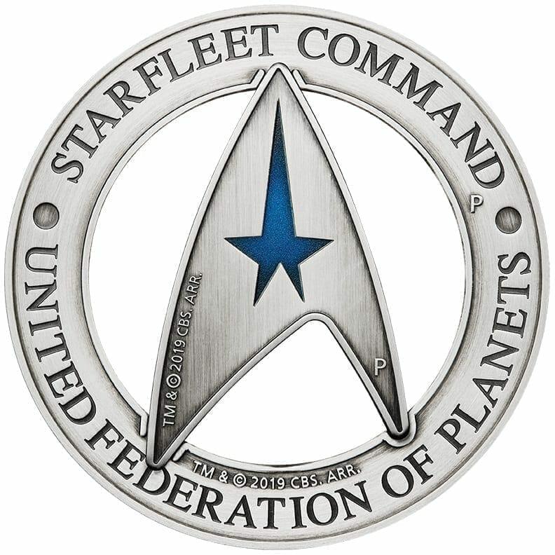 2019 Starfleet Command Emblem 3oz Silver Holey Dollar & Delta Coin Set 1