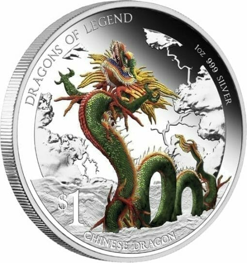 2012 Dragons of Legend - Chinese Dragon 1oz Silver Proof Coin 1