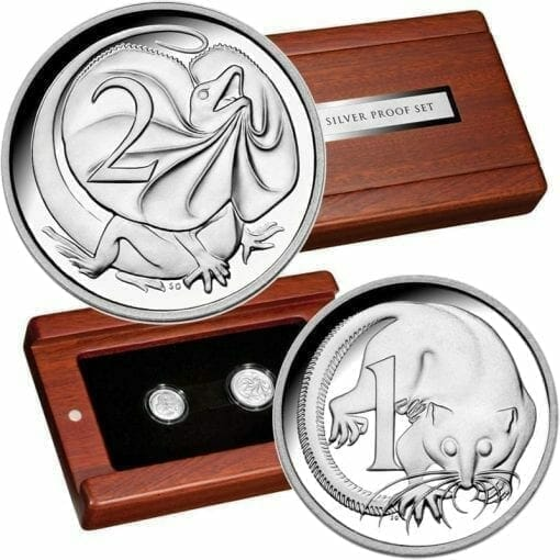 2011 Two Coin Fine Silver Proof Set - 1c / 2c 1