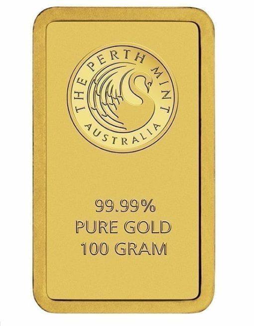 Perth Mint 100g .9999 Gold Minted Bullion Bar 3