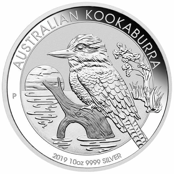 2019 Australian Kookaburra 10oz .9999 Silver Bullion Coin 1
