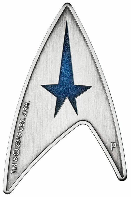 2019 Starfleet Command Emblem 3oz Silver Holey Dollar & Delta Coin Set 4